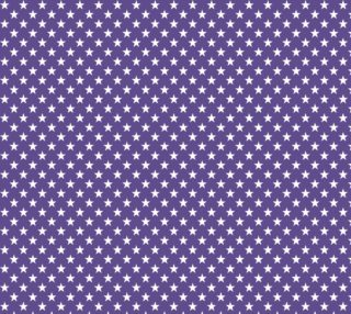 Aperçu de White Stars on Ultra Violet Purple