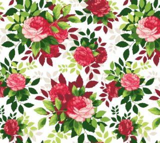 Aperçu de Gorgeous Vintage Roses on White Background