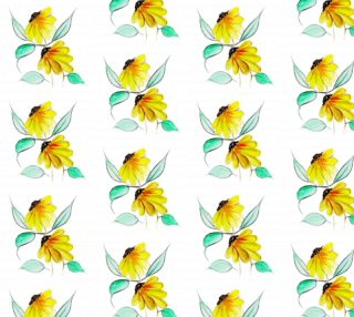 Aperçu de Sweet Yellow Watercolor Floral