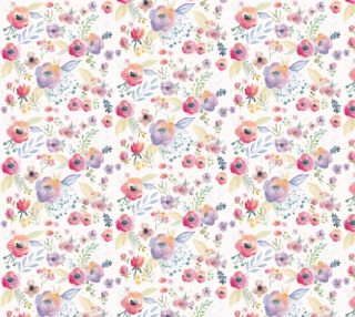 "Spring Watercolour Florals 12"" pattern  preview"