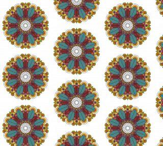 Aperçu de Vintage Floral Mandala Ornament on White Background