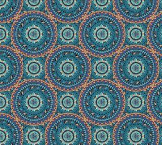 Aperçu de Mandala  Blue Circle Pattern, Spiritual, Elaborate, Colorful, Elegant