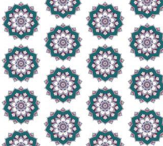 Aperçu de Unique Mandala Inspired Fabric - white Background