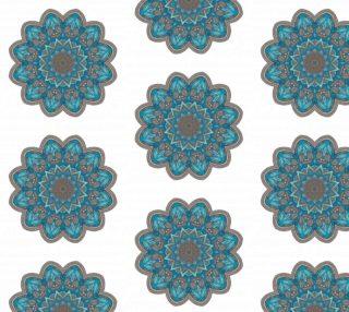 Aperçu de Gorgeous Blue Floral Mandala on White Background
