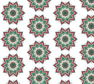 Aperçu de Lovely Floral Mandala  Pattern - White Background