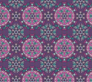 Aperçu de Elegant and Unique Floral Mandala - Dark Purple
