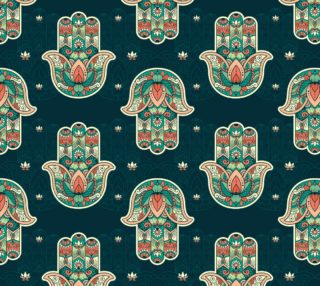 Lovely Spiritual Hamsa Fabric preview