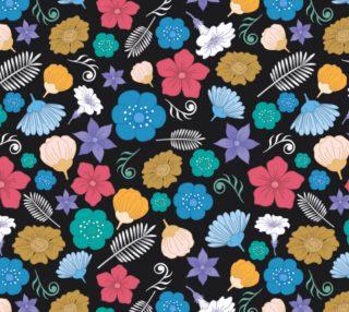 Aperçu de Cool Retro Mod Floral Fabric