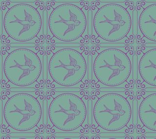 Lady Mary's Birds In Flight Fabric preview