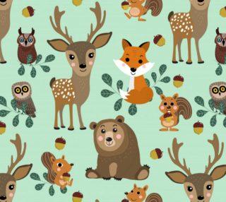 Aperçu de Adorable Wildlife Pattern
