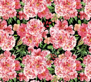 watercolor pattern pink flowers preview