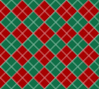 Red and Green Holiday Plaid preview