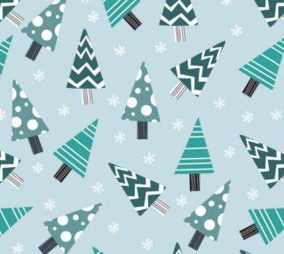 Aperçu de Cute Abstract Christmas Trees