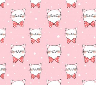 Aperçu de Cats on Pink Background