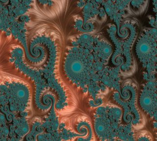 Copper Leaves Fabric  preview