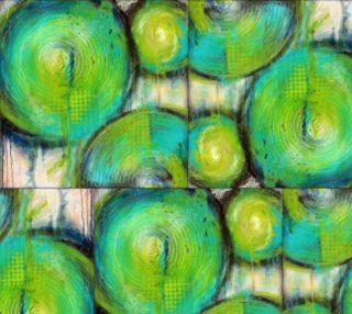 Aperçu de Firefly - Green Circle Fabric