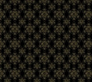 Metatron's Cube Pattern Black & Gold preview