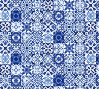 Aperçu de Indigo Watercolor Tiles