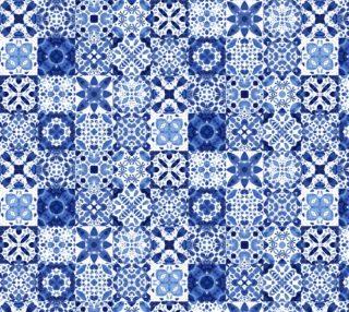 Indigo Watercolor Tiles preview