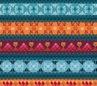 Tribal Mandala Lace Braid Print Fabric preview