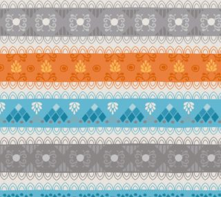 Tribal Soft Gray Stripes Fabric preview