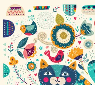 Cute Cat Fabric preview