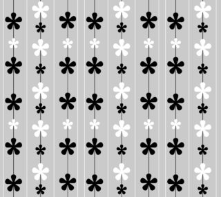 Aperçu de Black and White Flowers and Stripes