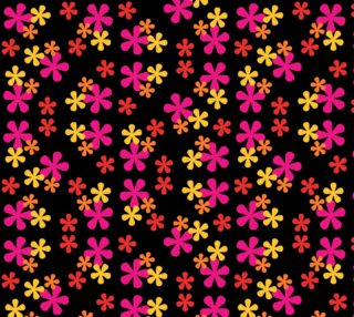 Neon Retro Flowers preview