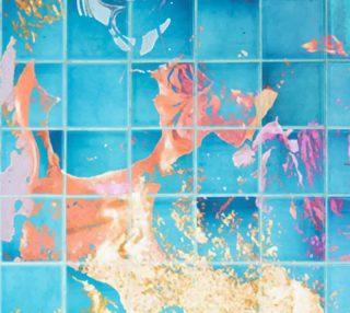 Aperçu de Mosaic Paint Spill Fabric