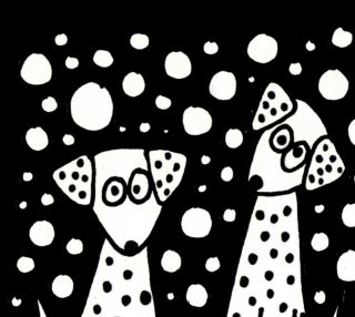 Aperçu de Funny Spotted Dogs Abstract Art