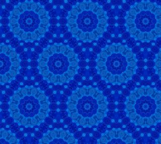 Blue Mandala Flower Art Floral Fabric preview