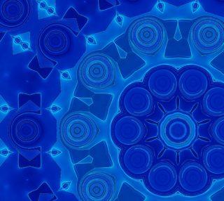 Aperçu de Blue Mandala Flower Art Floral Fabric