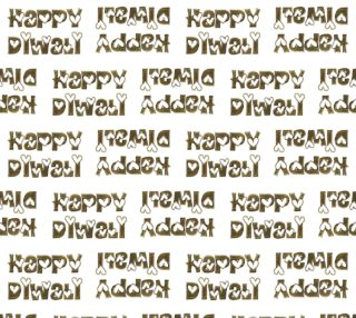 Festival of Lights Happy Diwali Greeting Typography Fabric preview