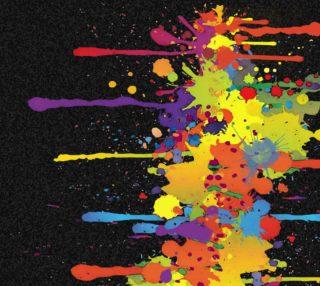 Aperçu de CRAZY multicolored double RUNNING SPLASHES fabric