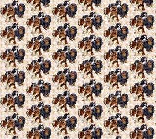 English Toy Spaniels fabric preview