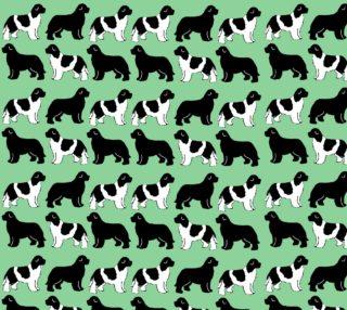 Aperçu de Black and Landseer Newfies on Green