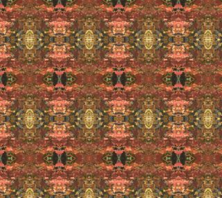 Autumn Leaf Oriental Rug Pattern 5 X 6 mirror preview