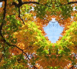 Autumn Leaf Kaleidoscope  Full Size 25.93 x 34.57 preview