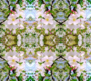 Apple Blossom Time Soft Pink Bright basic mirror 12.47 x 16.54 aperçu