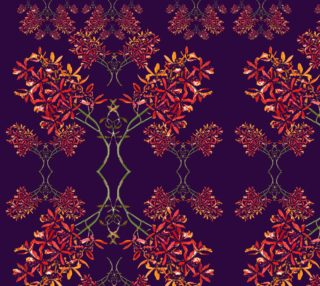Orchids on royal purple fabric preview