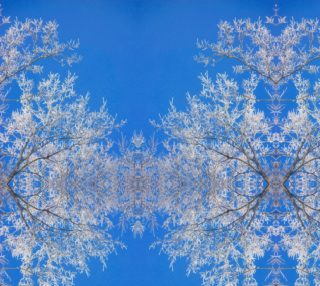 Frost Queen: Tree and Blue Sky Snowflake design basic mirror 16.08 x 21.45 preview