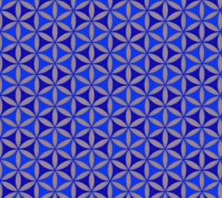 Aperçu de Flower of Life Pattern blue-grey