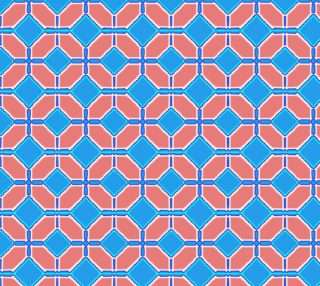 Geometric Pattern turquoise and pink ash preview