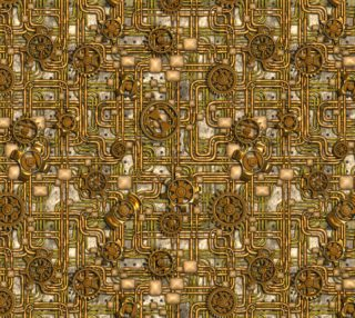 Steampunk Panel, Gears and Pipes - Brass preview