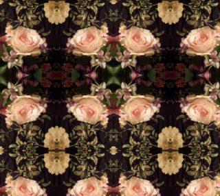 Pink Rose Trellis Elegance 2496 mirror 9.62 X 12. 76 preview