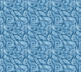 Aperçu de Blue floral curls