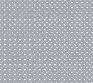 Aperçu de Greyhound Silhoutte - grey dog silhouette fabric
