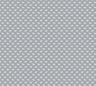 Aperçu de Pitbull Silhouette - grey and white dog fabric
