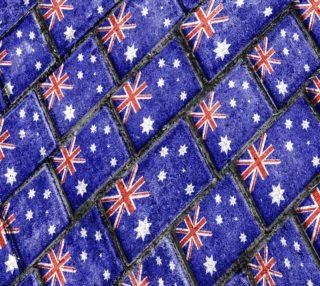 Australia Flag Urban Grunge Pattern Fabric Print preview