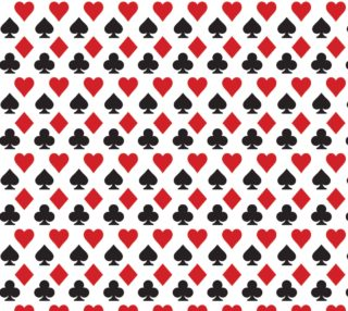 Aperçu de Casino - Hearts, Clubs, Spades, Diamonds White Background